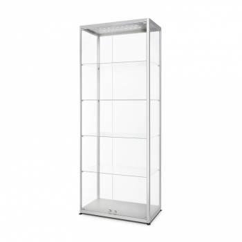 LED illuminated Glass Showcase 800x400x2000mm Front opening