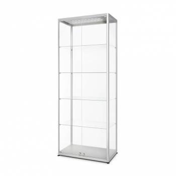 LED illuminated Glass Showcase 800x400x2000mm Front opening
