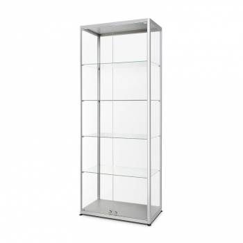 Glass Showcase 800x400x2000mm with Front opening double doors