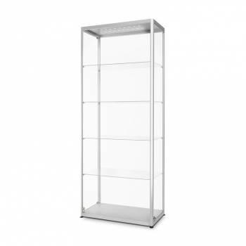 LED illuminated Glass Showcase 800x400x2000mm