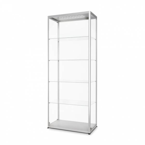 LED illuminated Glass Showcase 800x400x2000mm