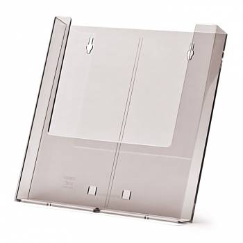 A4 wall mounted Brochure Holder with AB1 Counter foot attachment