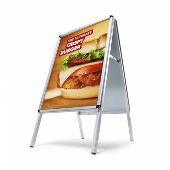 A Board Pavement Sign - Classic Design with 32mm Round Corner Snap Frame