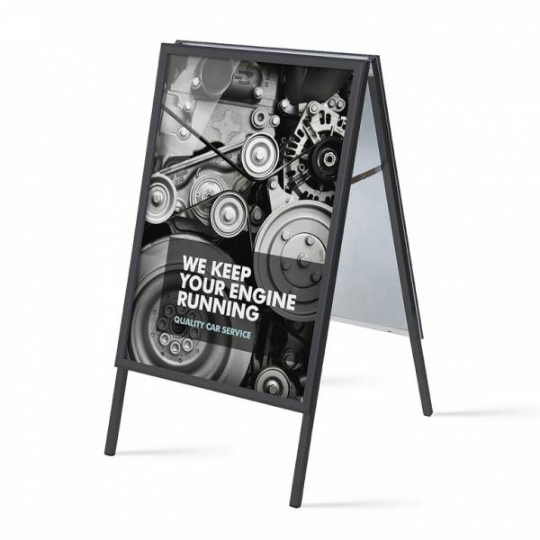 70x100 Black A Board  (32 mm)