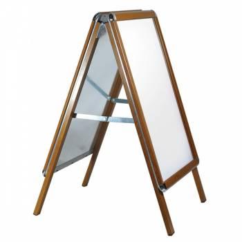 Wooden A Board pavement sign - Wood Finish 32mm profile - Oak
