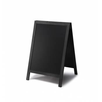 Chalkboard A Frame Pavement Sign  JD Natura range - Teak & Black