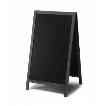 Chalkboard A Frame Pavement Sign JD Natura range BLACK