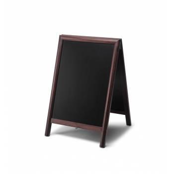 55x85 Chalkboard A Frame Pavement Sign JD Natura range DARK BROWN