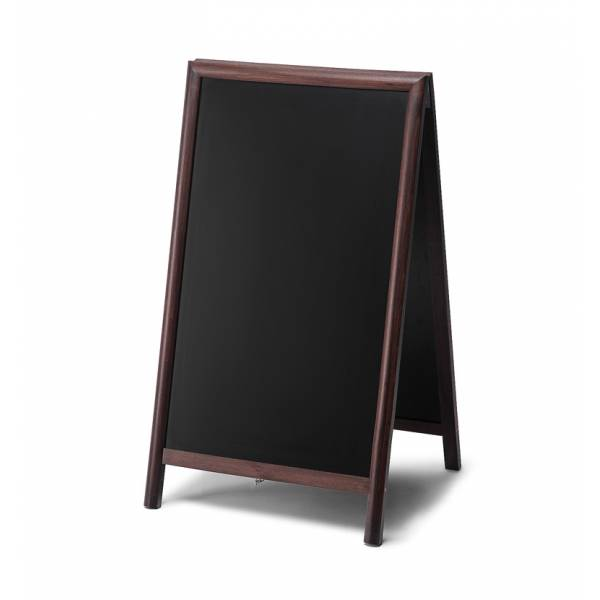 68x120 Chalkboard A Frame Pavement Sign JD Natura range DARK BROWN