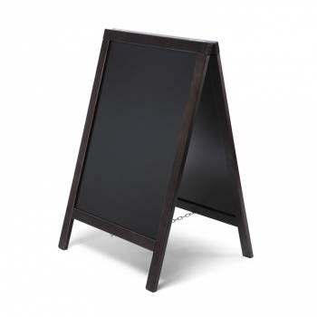 Economy Chalkboard A Frame Pavement Sign BLACK