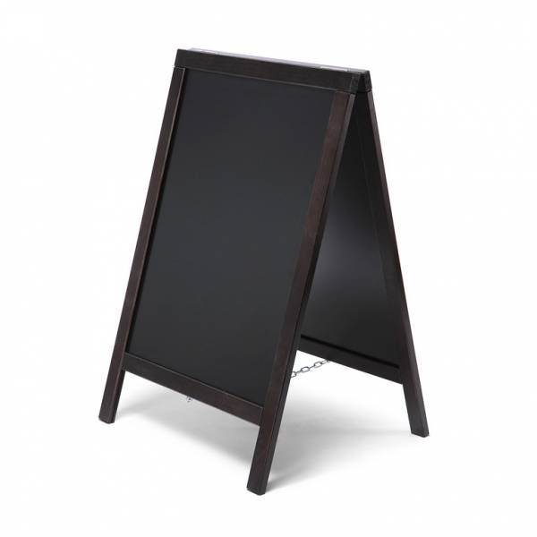 Economy Chalkboard A Frame Pavement Sign BLACK