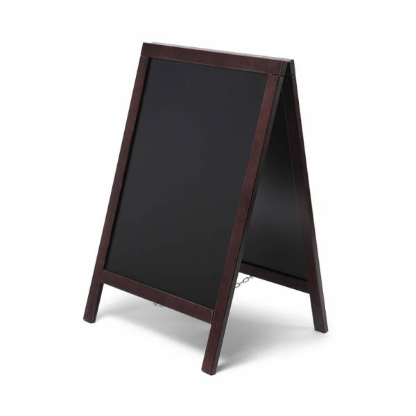 Economy Chalkboard A Frame Pavement Sign DARK BROWN