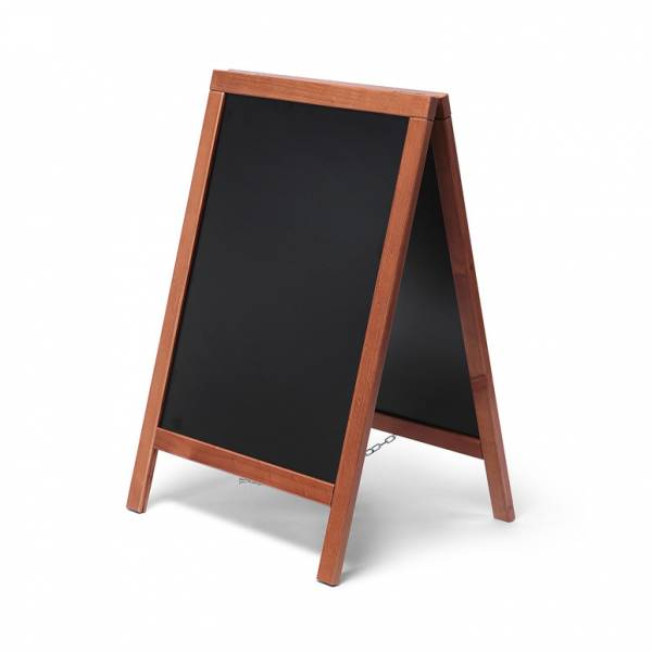 Economy Chalkboard A Frame Pavement Sign TEAK