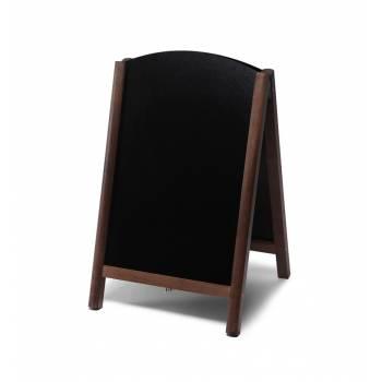 55x85 JD Natura Free Standing Fast Switch Chalk A Board DARK BROWN