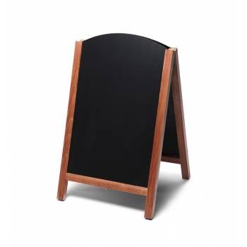 55x85 JD Natura Free Standing Fast Switch Chalk A Board, TEAK