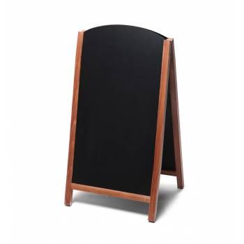 68x120 JD Natura Free Standing Fast Switch Chalk A Board, TEAK