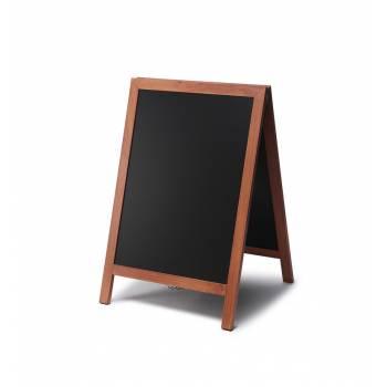 55x85 JD Natura Free Standing Chalk A Board, TEAK