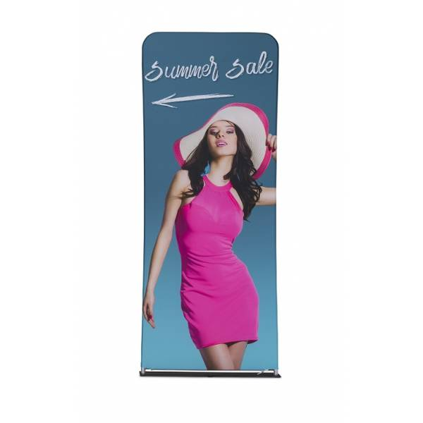 Zipper-Wall Banner 100x250cm Graphic Double Sided