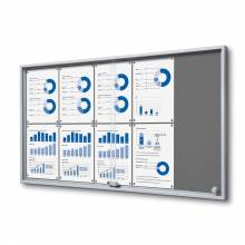 Felt Noticeboard with sliding doors -  SLIM