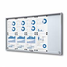 Noticeboard with sliding doors -  SLIM
