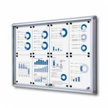 Noticeboard with sliding doors