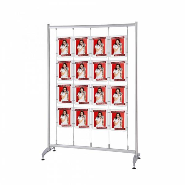 Elypse Freestanding Poster Display Stand with pockets