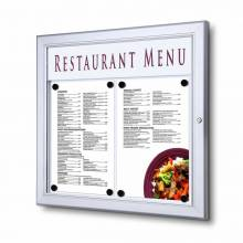 Menu Display Case/LED