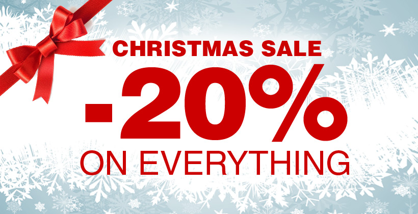 Christmas sale -20% on everything